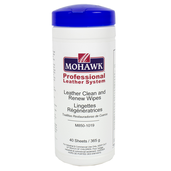 Mohawk M850-1019 Leather Clean & Renew Wipes, 40 ct