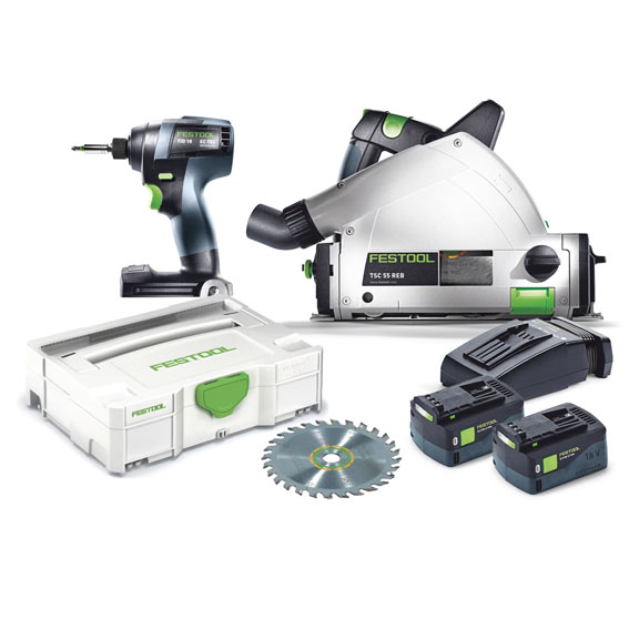 Festool 205601 TID 18 Impact Driver + TSC 55 Saw Set