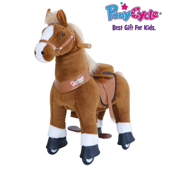 PonyCycle Small Brown with White Socks U-Series