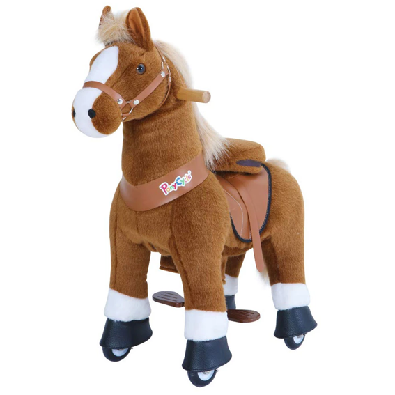 PonyCycle Medium Brown with White Socks U-Series