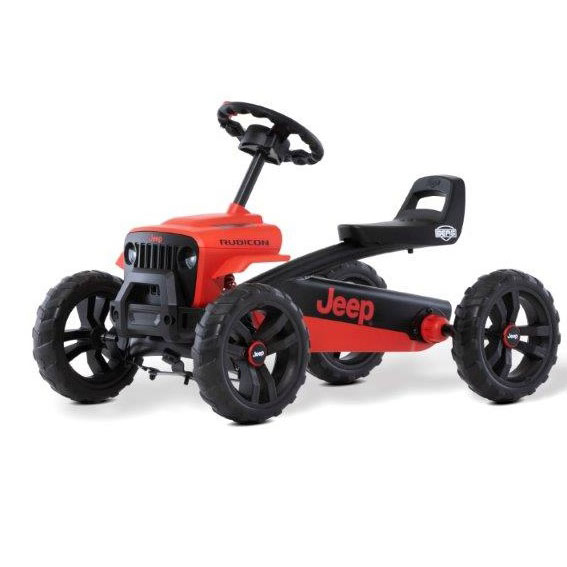 Berg Toys 24.30.13.00 Buzzy Jeep Rubicon Pedal Go Kart Red / Black