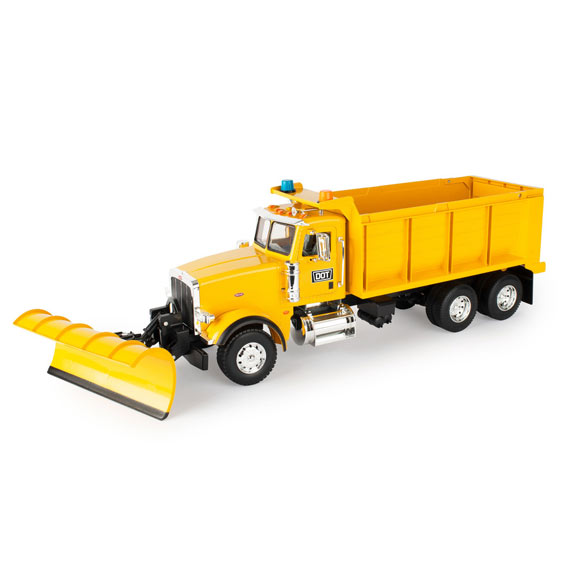 Tomy LP75755 1:16 Scale Big Roads Peterbilt 367 Dump Truck with Snowplow