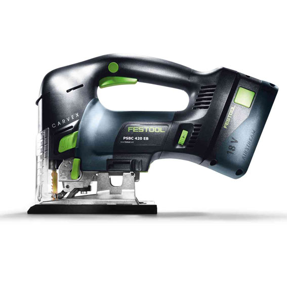 Festool 576535 PSBC 420 HPC 4 0 EBI-Plus Cordless D-Handle Carvex Jig Saw, Main