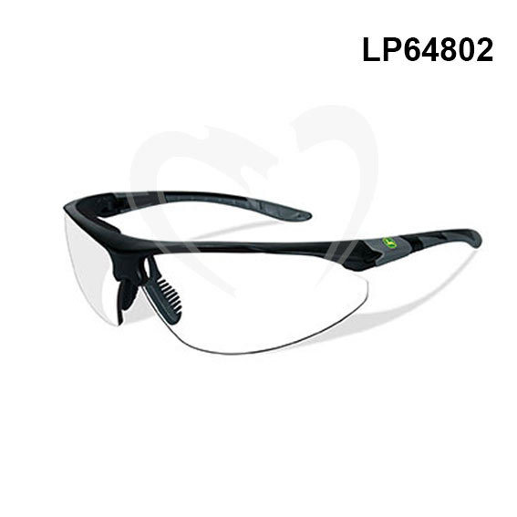 John Deere LP64802 Traction-X Safety Glasses, Clear/Black