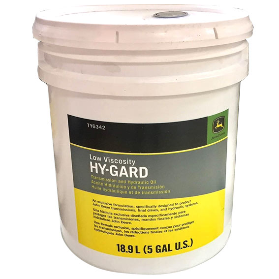 John Deere TY6342 Low Viscosity Hy-Gard Transmission & Hydraulic Oil, 5 Gallons