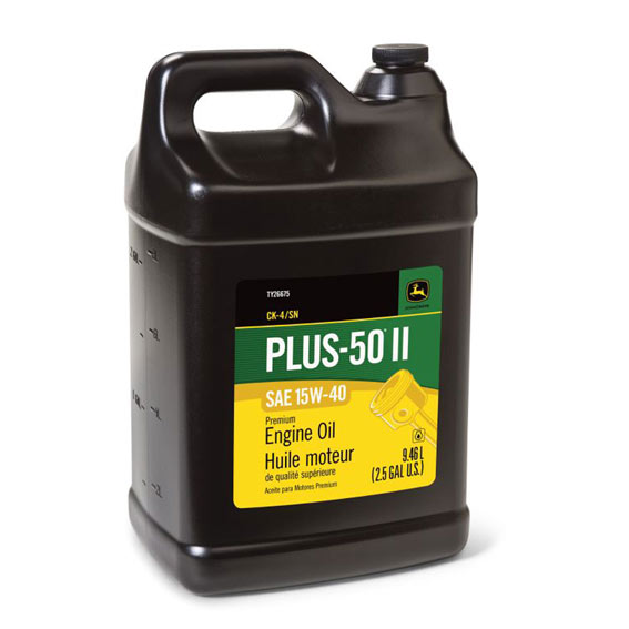 John Deere TY26675 Plus-50 II SAE 15W-40 Premium Engine Oil, 2.5 Gallons