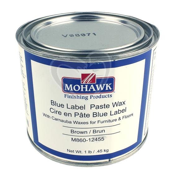 Mohawk M860-12455 Blue Label Paste Wax Brown, 1 lb.