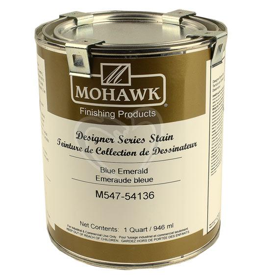 Mohawk M547-54136 Designers Series Stain Blue Emerald, Quart