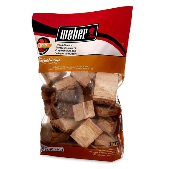 Weber 17137 Pecan Wood Chips, 350 Cu. In.