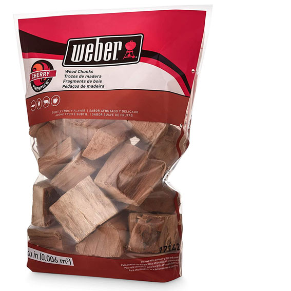 Weber 17142 Cherry Wood Chips, 350 Cu. In.