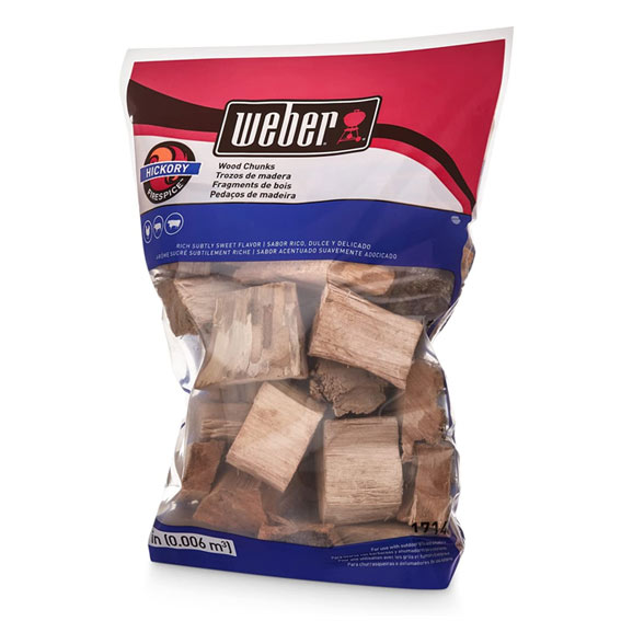 Weber 17148 Hickory Wood Chips, 350 Cu. In.