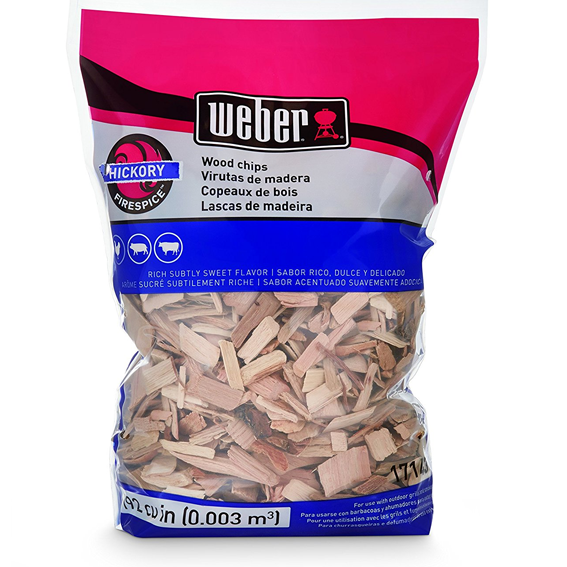 Weber 17143 Hickory Wood Chips, 192 Cu. In.