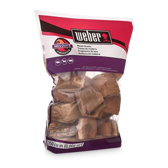 Weber 17150 Mesquite Wood Chips, 350 Cu. In.
