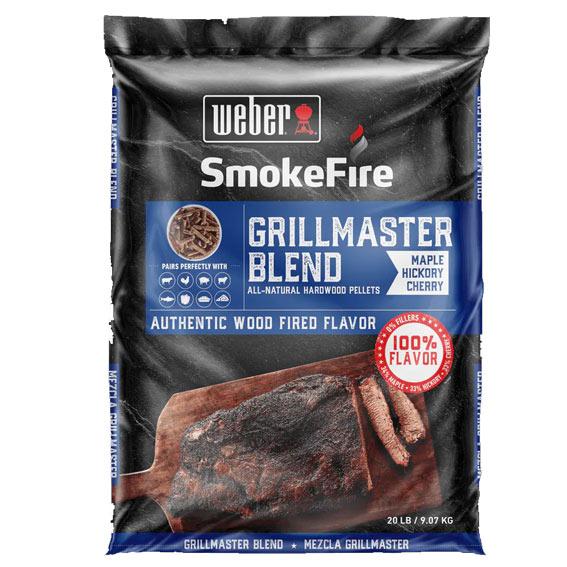 Weber 190001 Smoke Fire GrillMaster Blend Pellets, 20 lbs