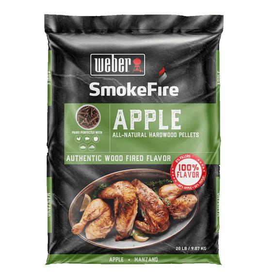 Weber 190004 Smoke Fire Apple Pellets, 20 lbs