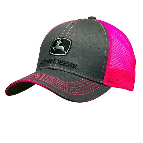 John Deere LP67036 Women's Neon Pink & Charcoal Cap