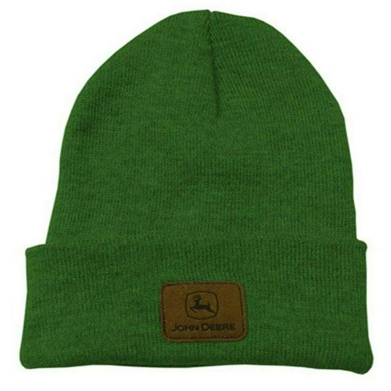 John Deere LP39977 Green Knit Beanie with Logo Patch