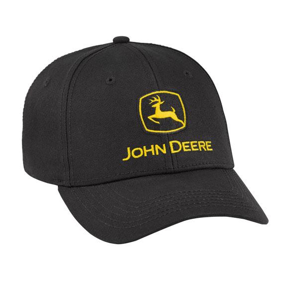 John Deere LP69073 Black Trademark Cap