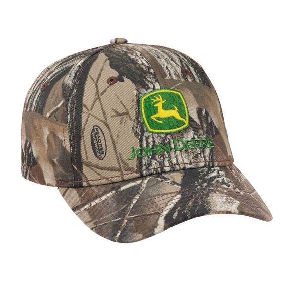 John Deere LP69075 Realtree Hardwoods Gray Camo Cap