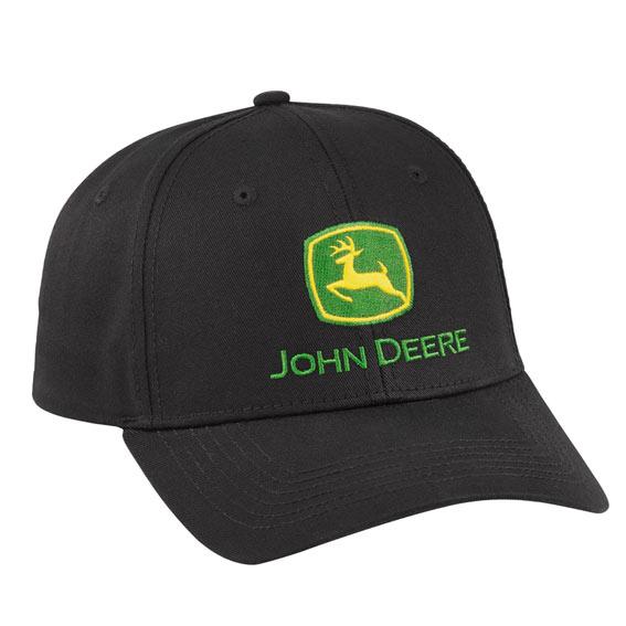 John Deere LP69106 Black Pro Chino Twill Cap