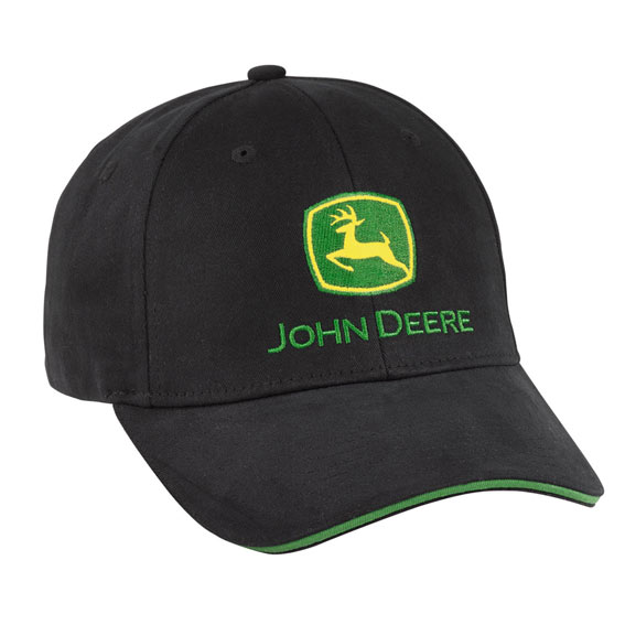 John Deere LP69118 Black Flexseam Cap