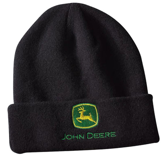 John Deere LP64863 Black Knit Beanie