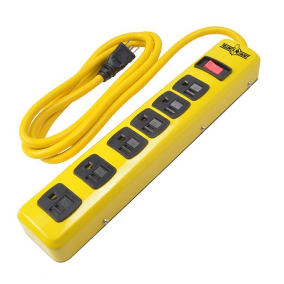 Yellow Jacket 5139 6 Outlet Power Strip with 6 Ft  Cord