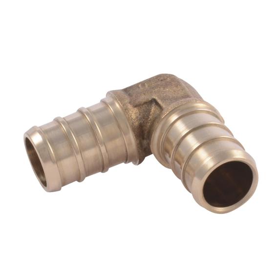 SharkBite UC248LFA Brass Crimp Elbow, 1/2 x 1/2