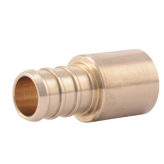 SharkBite UC607LFA Brass Crimp Sweat Male Adapter, 1/2 x 1/2