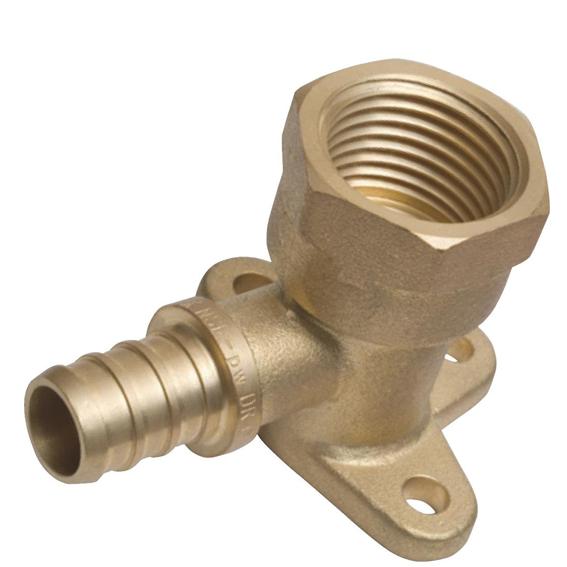 SharkBite UC334LFA Brass Crimp Drop Ear Elbow FNPT, 1/2 x 1/2