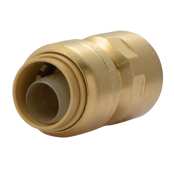 SharkBite U072LFA 1/2 Brass Push Female Adapter