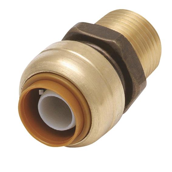 SharkBite U120LFA 1/2 Brass Male Push Adapter