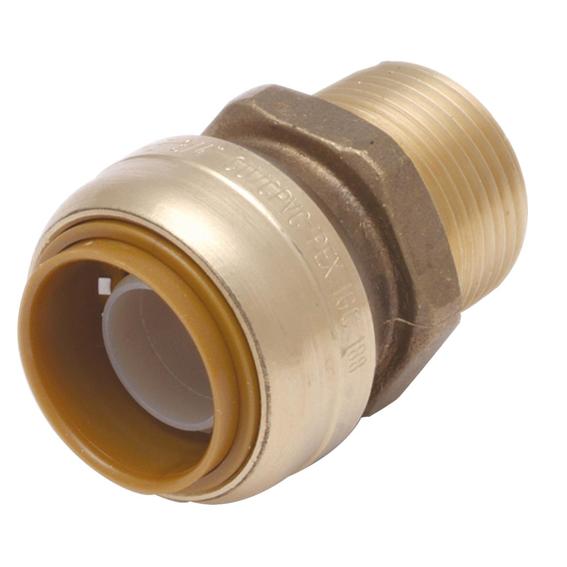 SharkBite U134LFA 3/4 Brass Male Push Adapter