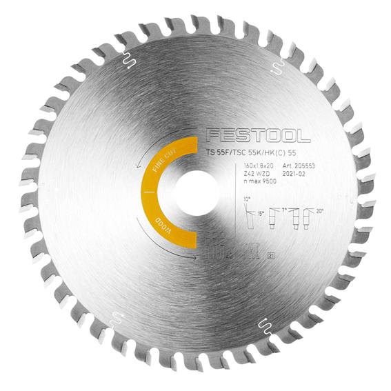 Festool 205561 Wood Fine Cut Saw Blade HW 160x1,8x20 WD42