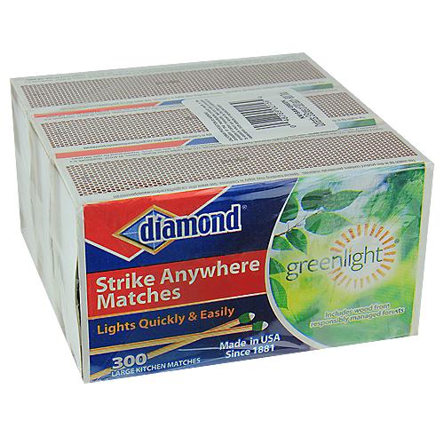 DIAMOND STRIKE ANYWHERE LARGE KITCHEN MATCHES - 3 BOXES