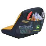 JOHN DEERE #LP92324 SEAT COVER FOR GATORS & RIDING MOWERS - BACK VIEW