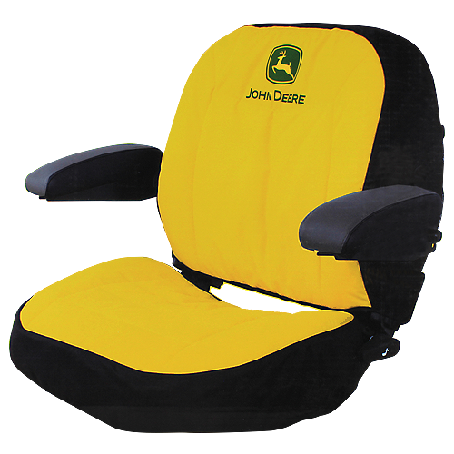 JOHN DEERE #LP47913 DELUXE SEAT COVER FOR X700 SIGNATURE SERIES RIDING MOWERS - FRONT VIEW