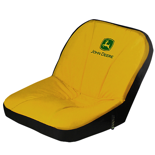 JOHN DEERE #LP92634 RIDING MOWER DELUXE SEAT COVER - LARGE - FRONT VIEW