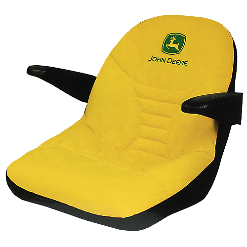 JOHN DEERE #LP92734 EZTRAK SEAT COVER FOR MOWERS WITH ARMRESTS - FRONT VIEW