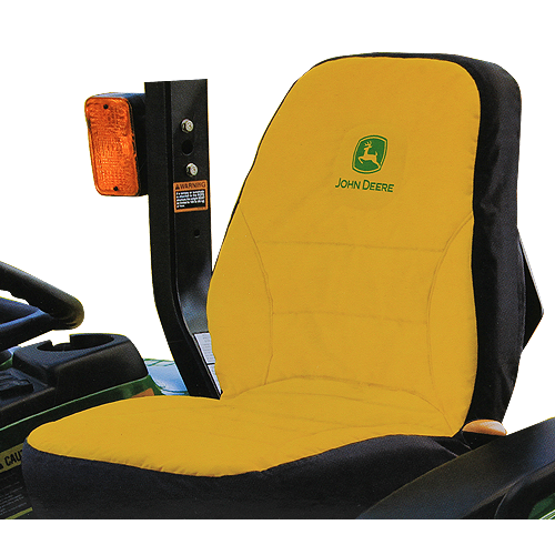 JOHN DEERE #LP95223 SEAT COVER FOR COMPACT UTILITY TRACTORS - MEDIUM - FRONT VIEW