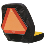 JOHN DEERE #LP95223 SEAT COVER FOR COMPACT UTILITY TRACTORS - MEDIUM - REAR VIEW