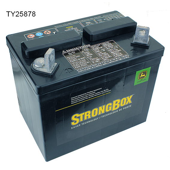 John Deere #TY25878 Strongbox Dry Charged 12V Battery