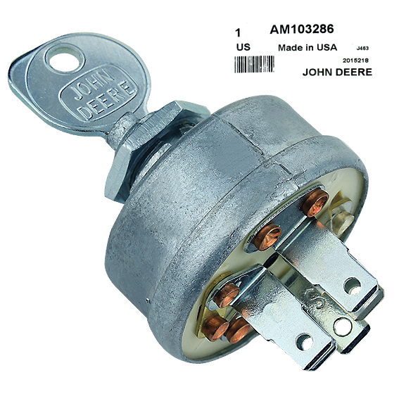 John Deere #AM103286 Ignition Switch