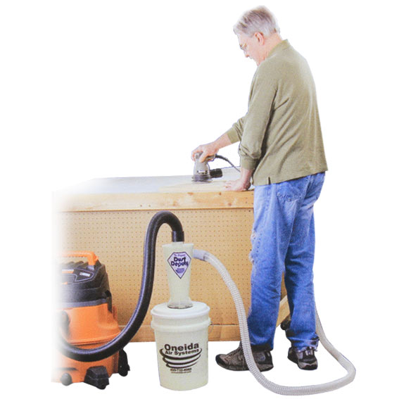 Oneida #AXD000004 Dust Deputy Deluxe Cyclone Separator Kit - In Use