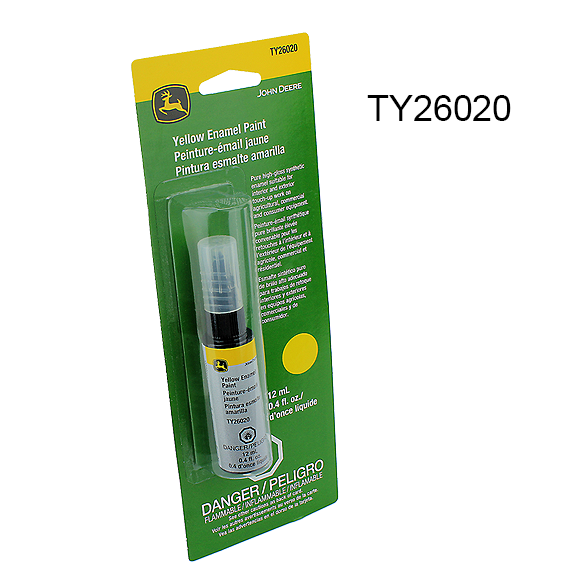 John Deere #TY26020 Yellow Touch Up Paint, 0 4 oz