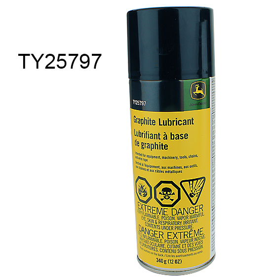 JOHN DEERE #TY25797 GRAPHITE LUBRICANT SPRAY - 12 OZ