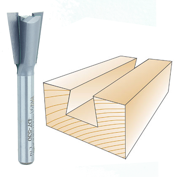 Whiteside D7-530 Porter-Cable Dovetail Router Bit, 1/4-Inch SH x 17/32-Inch LD x 7 Degree