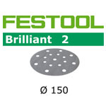 Festool 496580 Brilliant 2 P60 Disc Abrasives - 150mm - 10 Pk.