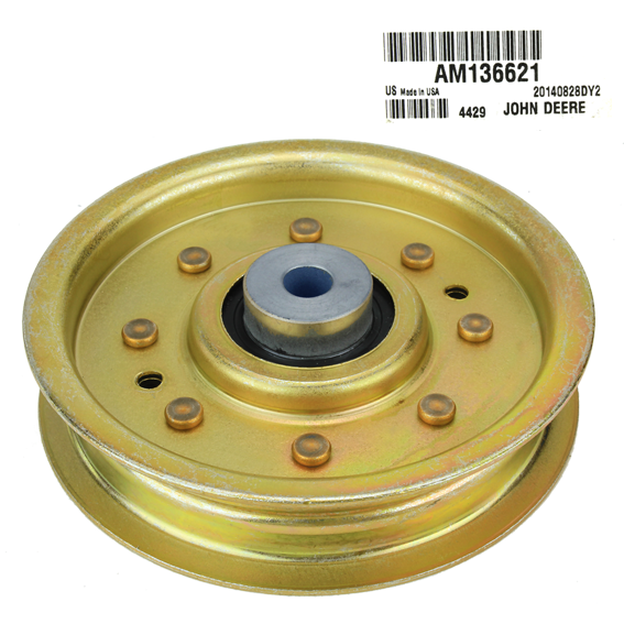 John Deere #AM136621 Flat Idler Pulley