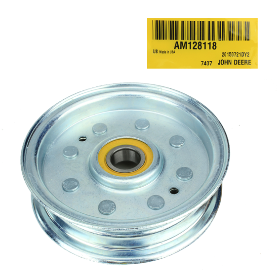 John Deere #AM128118 Flat Idler Pulley